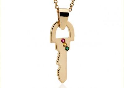 Gold-Chain-Necklace-w-Key