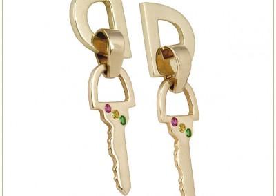 Gold-Earrings-w-Post-Key