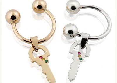 Semicircular-Gold-Key-ring-