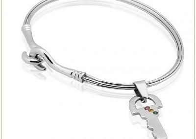 Silver-4-Wire-Bangle-w-Key